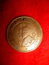 Coronation Medallion 1911, bronze, King George V and Queen Mary