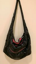 Express woman's nylon quilted  soft hobo shoulder bag handbag preowned
