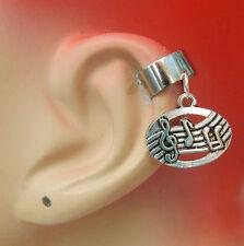 Handmade Jewelry Silver Wrap Earrings Earring Music Ear Cuff Charm Drop Dangle