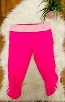 Lululemon Womens running Leggings Yoga pants capri Athletic pants Size 8 pink