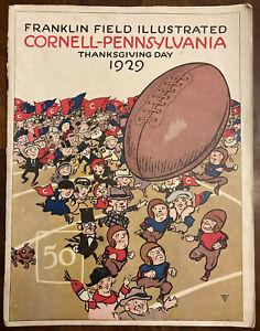 1929 Cornell vs Penn Franklin Field Illustrated Magazine Thanksgiving Game