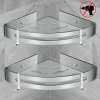 Shower Angle Shelf Bathroom Rack Free Drill Rustproof Storage Sink Shower Basket