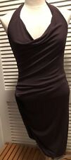 Max Azria BCBG Fitted Eggplant Halter Mini Dress | XS | Free Shipping