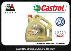Olio motore Castrol Edge fst titanium 5w-30 LL 3 III pro Vw Audi 4 litri
