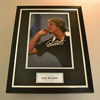 Eric Bristow Signed Framed Photo 16x12 Display Darts Champion Autograph + COA