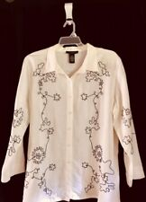 Dialogue women's ivory / black shirt - size 1X - NWT