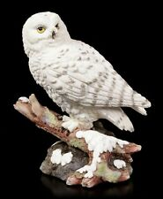 Schneeeule sitzt auf AST Uhu Eule Buch Tierfigur bunt