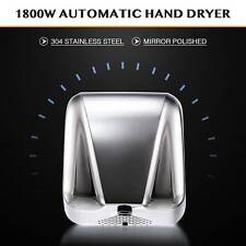 1800W Electric Hand Dryer Machine with Automatic Touchless Tech Stainless Steel