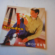 Autographed Ty Herndon Big Hopes CD Insert