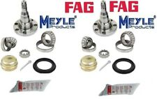2 Rear Wheel Bearing Kits and Stub Axle Spindles for VW Audi Drum brake w/o ABS