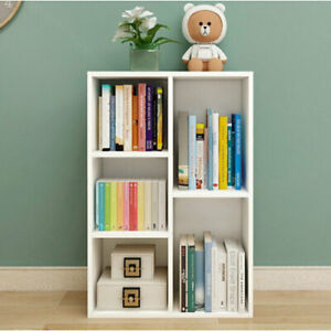 Students Bookshelf 5 Cubes Storage Bookcase Display Home Office Shelving Unit