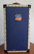 Vintage Blue Vertical Suitcase
