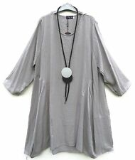Classics & More Kleid Dress Robe Vestido 50% Leinen Linen XXXL 56 Lagenlook *
