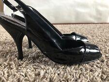 BCBG Black Open Toed Heels - Size 7B