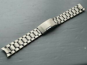 NEW 18MM STAINLESS STEEL CURVED ENDS GENTS WATCH STRAP/ BAND FOR SEIKO