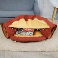 New Pet Dog Cat Tunnel Sofa Bed House Cushion Mat Sleeping Bag Ball Red Size M