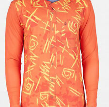 Volcom Brocolli Long Sleeve Rashguard Top (L) Orange Pop
