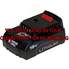 PORTER CABLE Rebuild service for PC18BL or BLX 18-Volt Lithium-Ion battery
