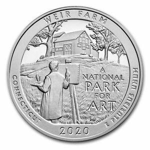 2020 5 oz Silver ATB Weir Farm National Historic Site, CT  w/ capsule