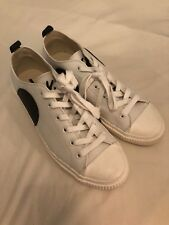 MCQ ALEXANDER MCQUEEN MEN'S SHOES LEATHER TRAINERS SNEAKERS NEW PLIMSOLL SIZE 10