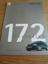 Rare, RENAULT CLIO 172 EXCLUSIVE  BROCHURE  m