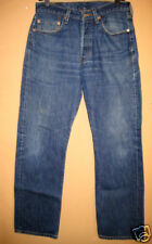 Distressed used levi 501 jeans button 32x32 destroyed