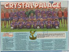 CRYSTAL PALACE 1983-1984 ORIGINAL HAND SIGNED MAG TEAM GROUP X 13 SIGNATURES