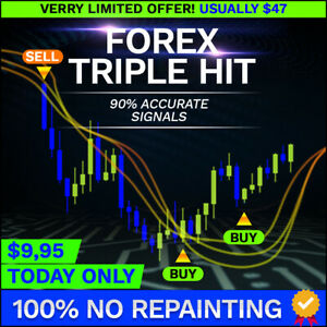 Forex Triple Hit ~ Binary and Forex MT4 Indicator 90% Accuracy Signals