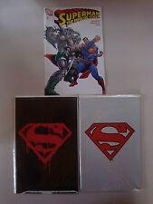 SUPERMAN #75 COMIC LOT BLACK,WHITE,AND HTF REPRINT