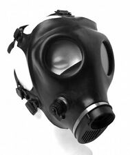 Israeli HEAVY DUTY RUBBER GAS MASK face head strap harness ADULT civilian black