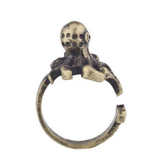 Lux Accessories Burnish Gold Tone Vintage Sea Monster Octopus Statement Ring