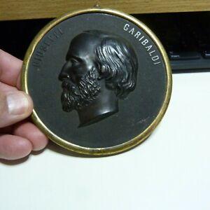 Bois Durci Plaque of Giuseppe Garibaldi