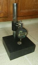 "6x6 Marble Base with 1"" Stanchion and 0.5"" Mitutoyo Absolute Micrometer 0.0005in"