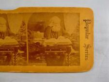 Stereoview Popular Series The Bread Of Life Old Man Studying Book Hourglass (O)