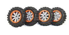 MadMax Giant Grip Tyres, 8 Spoke Grey Wheels Full Set KMX2 & Losi 5ive