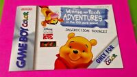 Winnie Pooh Adventures - Nintendo Game Boy Color Instruction MANUAL ONLY No Game