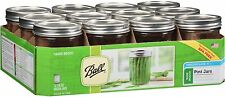 Ball Wide Mouth Mason Canning Jars Pint 12 Count 12-16 oz. jars
