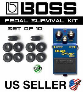 10 Pack BOSS Guitar Pedal Grommet Upgrade Survival Kit Rubber O-Ring Bushing Set
