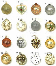 Decorazioni in oro in plastica per albero di Natale