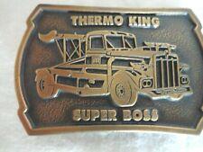Thermo King Super Boss Heavy Equipment Brass Belt Buckle (#3274)