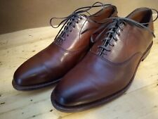 Allen Edmonds Carlyle plain toe dress shoes size 8 E, Dark Chilli