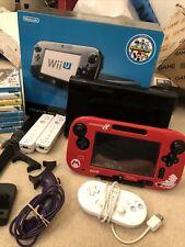 Nintendo Wii U Premium Pack 32GB Black Handheld System (8 Games 2 Wii Remotes)
