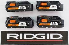 4 RIDGID RIGID 18v 18 VOLT HYPER LITHIUM 2Ah BATTERY PACKS BATTERIES - R840086