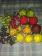 Vtg 14 Pcs Beaded Sugar? Fruit Assorted From The 90's