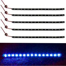 Waterproof Car Motor Vehicle 5 x 15 LED 12V 30cm Flexible Strip Blue Light