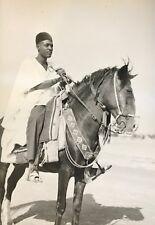 Cameroun  Rhumsiki Afrique Cavalier Kapsiki CIRCA 1950 argentique Cameroon