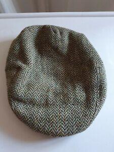 Harris Tweed Flat Cap Size Medium