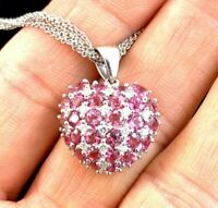 Designer Vieri 14k 18k Gold White Gold 5 Chain Tourmaline Diamond Heart Necklace
