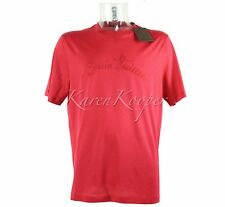 NEW W/ TAGS LOUIS VUITTON MEN XXL LV EMBROIDERED SIGNATURE RED TEE T-SHIRT RARE