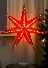 Standing Gloss Red star 2017  light lamp 70cm
